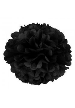 Помпон бумажный 30см чёрный