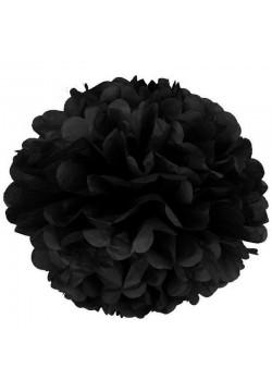 Помпон бумажный 35см чёрный