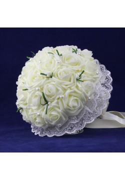 Букет-дублёр Розы латекс 1,  (айвори)
