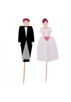 """Шпажки для канапе """"Жених и невеста"""" 24шт"""