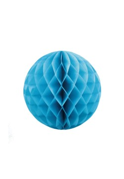 Шар бумажный сотовый 20см голубой