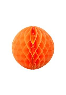 Шар бумажный сотовый 20см оранжевый