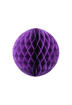 Шар бумажный сотовый 20см фиолетовый тёмный