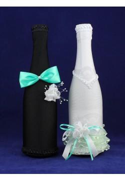 Костюмы на шампанское ЖиН (стрейч) мятный