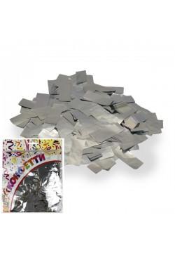 Конфетти фольга Прямоугольники серебро 100гр, 2*5см