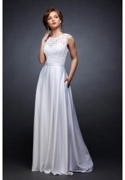 Свадебное платье Хельга-вечер (белый)