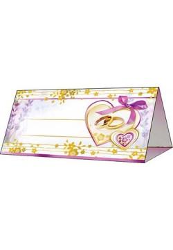 Банкетная карточка 5*9,5см Кольца (без отделки)