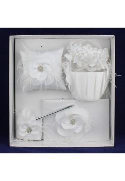 """Комплект свадебный """"Цветок"""" 5в1 (белый)"""