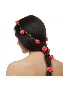 """Декор для волос вплетаемый """"Розочки"""" 150см"""