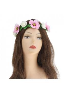 """Венок на голову цветочный """"Шиповник"""""""