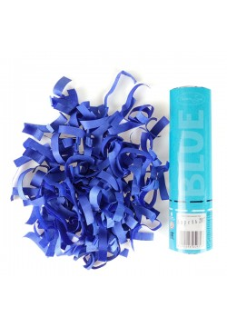 Пневмохлопушка 20см Голубое конфетти (бумага)