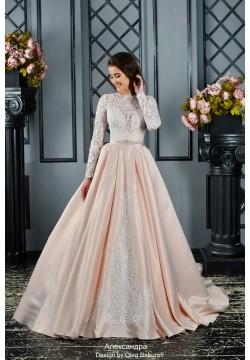 Свадебное платье Александра (пудра)