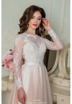 Свадебное платье Антонина (нежная пудра)