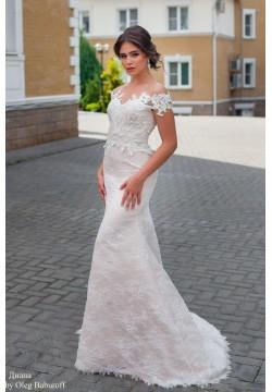 Свадебное платье Диана (пудра)