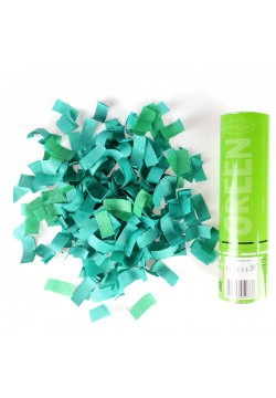 Пневмохлопушка 20см Зелёное конфетти (бумага)