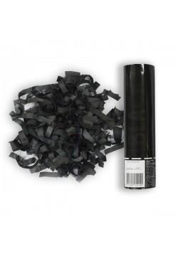 Пневмохлопушка 20см Чёрное конфетти (бумага)
