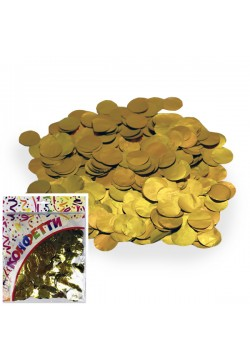 Конфетти фольга Круги золото 100гр, 2см