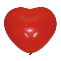 "Шар Сердце без рисунка CHERRY RED 10""/25см"