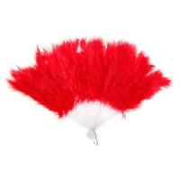 Веер перьевой (красный) 45*26см