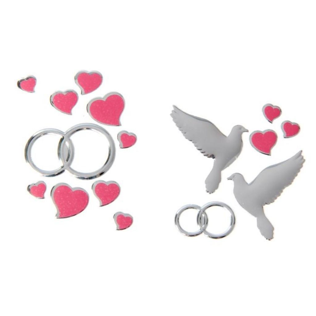 свадебных голубей с кольцами