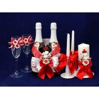 Комплект свадебный №67-2 красный